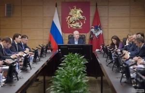 эр Москвы Сергей Собянин на заседании Правительства Москвы