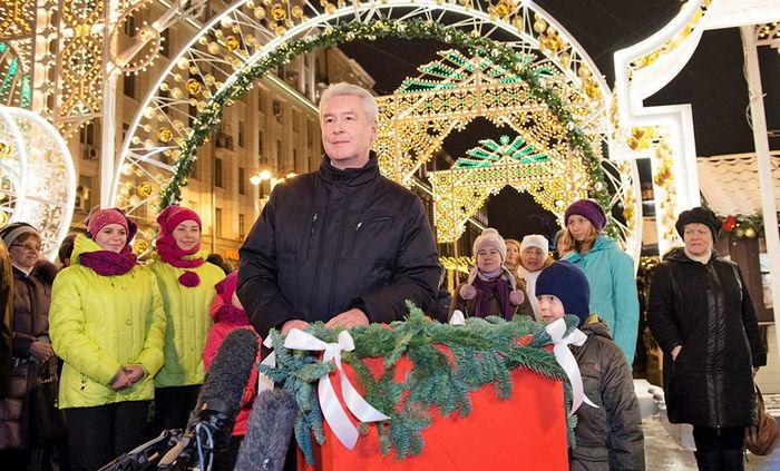 Собянин открыл в российской столице фестиваль «Путешествие вРождество»