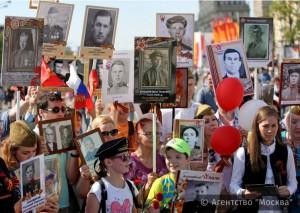 9 мая в шествии «Бессмертного полка» в столице приняли участие свыше 700 тысяч человек