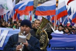Около 80 тысяч демонстрантов вышли на улицы Москвы
