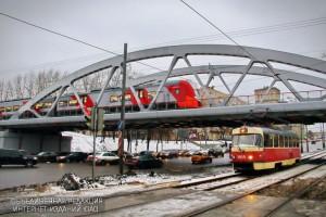 """Трамвайные пути под станицей МЦК """"Верхние котлы"""""""