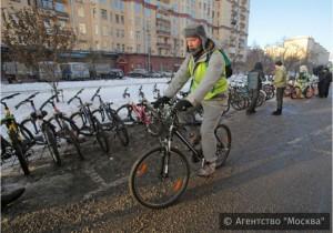 Участник велопарада