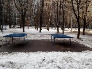 Площадку для настольного тенниса на Россошанской улице отремонтировали