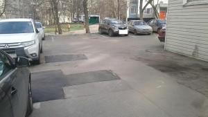 Отремонтированный асфальт на дороге Чертаново Южное