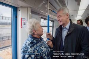 Мэр Москвы Сергей Собянин дал старт началу эксплуатации вагонов нового поколения «Москва»