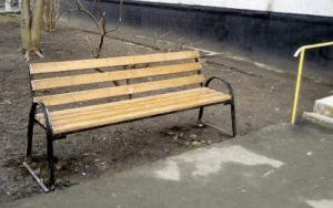 Новая скамейка