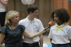 Активисты школы на конференции по ученическому самоуправлению