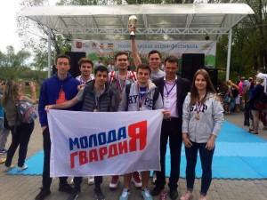Команда молодогвардейцев Южного округа приняла участие в соревнованиях по волейболу