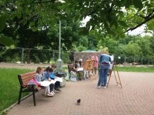 Дети ЮАО в парке
