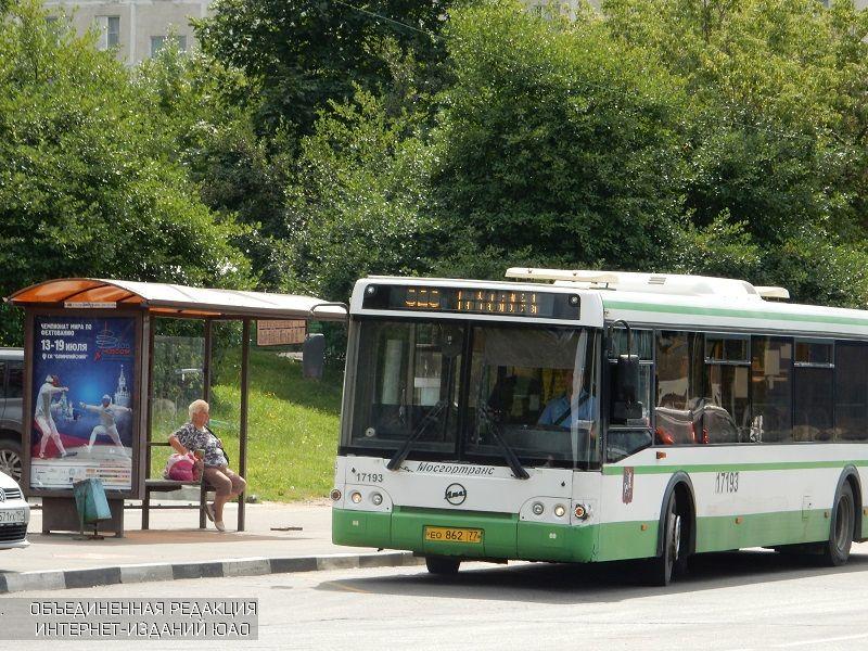 Автобус в районе Чертаново Южное