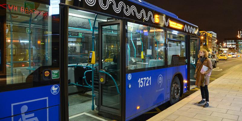 Ночные рейсы совершат автобусы Чертанова Южного в новогоднюю ночь